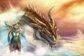 Picture dragon, Skyrim, art, race, the Argonian, parturnaks, dragonborn