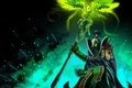 Picture DotA 2, the sorcerer, bird, dota 2, Rubik, rubik, dota, MAG, wings, magic, green, lightning, ...