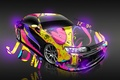 Picture Pink, Yellow, Neon, Pink, Toyota, Fantasy, Purple, Photoshop, Design, Yellow, Gray, Violet, Toyota, JDM, el ...