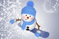 Picture winter, snow, snowboard, snowman, christmas, new year, cute, snowman