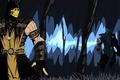 Picture Mortal Kombat X, Scorpio, Sub-Zero, battle, Sub-Zero, figure, Mortal Kombat, Scorpion, fight