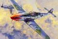 Picture painting, Messerschmitt Bf 109 K4, war, ww2, art