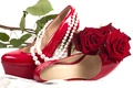 Picture flower, flowers, red, romance, shoes, roses, pearl, red, rose, sexy, flower, sexuality, flowers, shoes, roses, ...