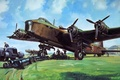 Picture Short Stirling, four-engine, bomber, figure, British