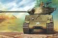 Picture figure, tank, Sherman, American medium tank