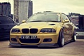 Picture stance, BMW, Gold, BMW, Tuning, E46