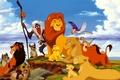 Picture Timon and Pumbaa, Timon, monkey, Pumbaa, Nala, the lion king, Simba, hyenas