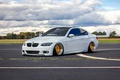 Picture people, tuning, bmw, face, white, wheels, e92, BMW, power, front, germany, turbo, gold