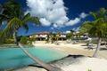 Picture beach, palm trees, the ocean, resort, Villa