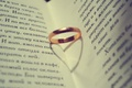 Picture ring, Wallpaper, shadow heart, book