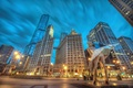 Picture building, Chicago, statue, Chicago, Marilyn Monroe