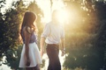 Picture the sun, lovers, girl, guy