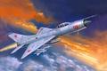 Picture fighter-interceptor, art, Soviet, figure, Su-9, single-engine, clouds, the sky, the plane, weatherproof