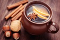 Picture sticks, Anis, Cup, winter, drink, citrus, nuts, star anise, spices, cinnamon