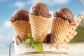 Picture chocolate, sticks, ice cream, horn, mint