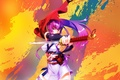 Picture bright, paint, girl, katana, anime