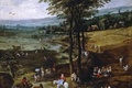 Picture landscape, picture, Jan Brueghel the elder, View Of The Flemish Countryside