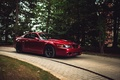 Picture red, ford mustang, red, cobra, Ford Mustang, forest