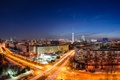 Picture road, machine, night, the city, lights, building, home, excerpt, Germany, panorama, Germany, tower, capital, Germany, ...