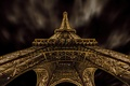 Picture Paris, Eiffel tower, the sky, night