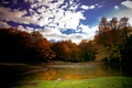 Picture Lake, Fall, Sky, Clouds, Autumn, Clouds, The sky, Autumn, Lake