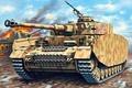 Picture figure, art, German medium tank, Panzerkampfwagen IV, Pz.KpfW.IV Ausf.H, T‑IV