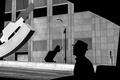 Picture Man, Lantern, Wallpaper, Black & White, Rinzi Ruiz, Photo, Silhouette
