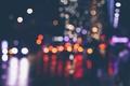 Picture lights, street, bokeh