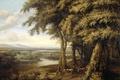 Picture nature, landscape, Koninck Philips, Forest Landscape with River View, picture