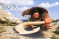 Picture sea, stones, weapons, cartoon, rope, fantasy, Walt Disney Pictures, Maui, Moana, Moana