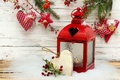 Picture winter, snow, holiday, heart, star, candles, Christmas, lantern, New year, star, Happy New Year, heart, ...