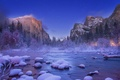 Picture USA, Christmas Valley View, Yosemite Nation Park