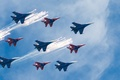 Picture Aviation, fighters, Swifts, the sky, Russian knights