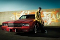 Picture chevrolet, the series, Aaron Paul, classic, graffiti, car, red, machine, breaking bad, aaron paul, brba, ...