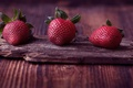 Picture Three, Board, Macro, Beautiful background, berries, Red, Strawberry, Background