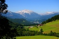 Picture Mountains, Village, Meadow