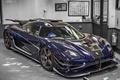 Picture Koenigsegg, Carbon, Blue, One 1, Garage