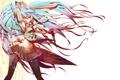 Picture tie, hatsune miku, Vocaloid, art, hair, form, girl, vocaloid