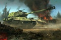 Picture battle, The is-2, King tiger, Tiger II, Royal tiger, Soviet heavy tank, German heavy tank, ...