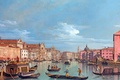 Picture the sky, water, people, building, picture, boats, gandoli