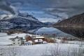 Picture winter, mountains, lake, home, Norway, Norway, mountain Filefjell, Of valdres, lake Twin, Valdres, Tyin lake, ...