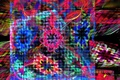 Picture flowers, fractal, mesh, background, abstraction, blur, Wallpaper, patterns, grille