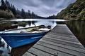 Picture British Columbia, lake Gribaldi, boat, the bridge, nature, Canada, forest