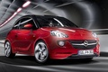 Picture red, background, Adam, Opel, Vauxhall, Adam, Slam, hatchback, the front, Vauxhall, Opel