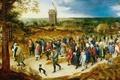 Picture genre, picture, Jan Brueghel the elder, The Wedding Procession, windmill