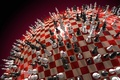 Picture red, Chess, ball