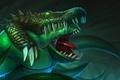 Picture teeth, crocodile, art, skin, Dota 2, Leviathan, Tidehunter