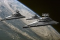 Picture Star wars, Imperial star destroyer, planet, Star Wars, space