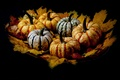 Picture leaves, background, pumpkin