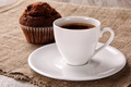 Picture good morning, coffee, cupcake, Breakfast